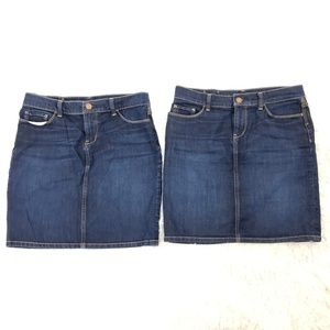 2 Banana Republic Dark Blue Denim Pencil Skirts 27